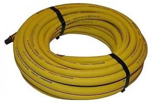 Continental Safety Yellow Rubber Hose With 1/4-Inch Ends