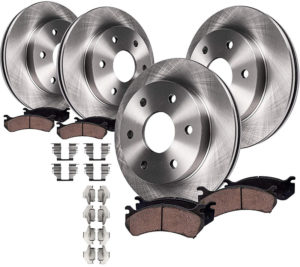 Detroit Axle Front and Rear Brake Kit Rotors