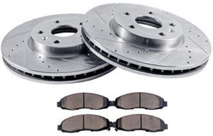 2006 For Ford Freestyle Rear Anti Rust Coated Disc Brake Rotors and Ceramic Brake Pads