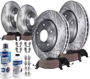 Detroit Axle Front and Rear Drilled Slotted Brake Kit