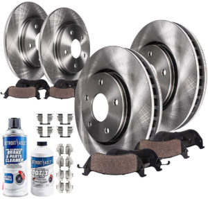Detroit Axle Front and Rear Brake Rotors