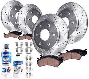Detroit Axle Drilled Slotted Brake Kit Rotors