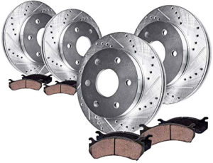 Detroit Axle Drilled Slotted Disc Brake Kit Rotors